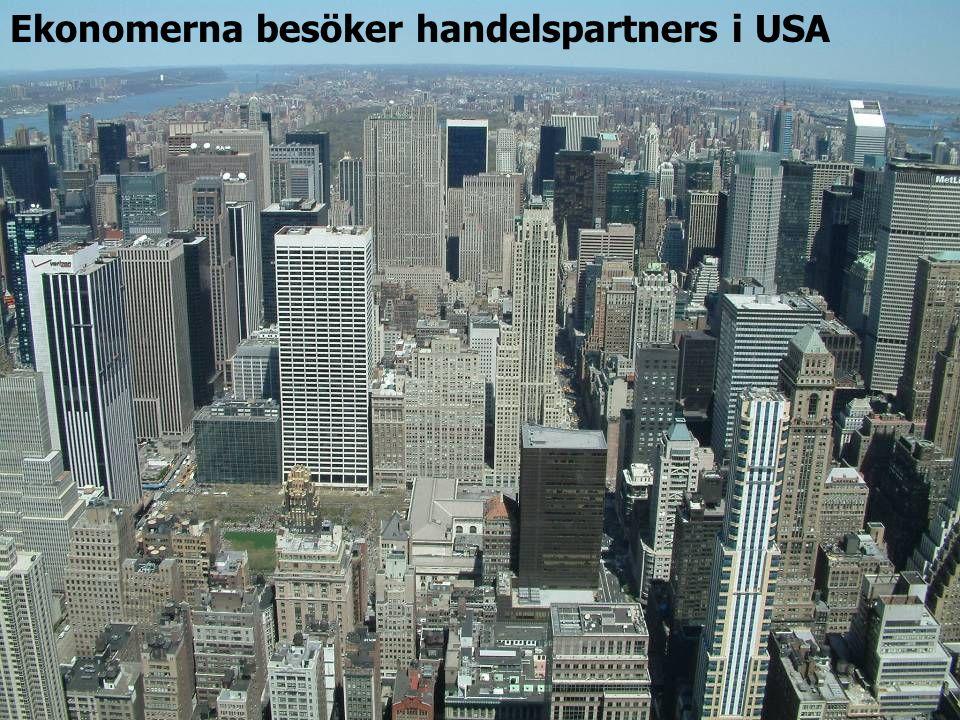 Ekonomerna besöker handelspartners i USA