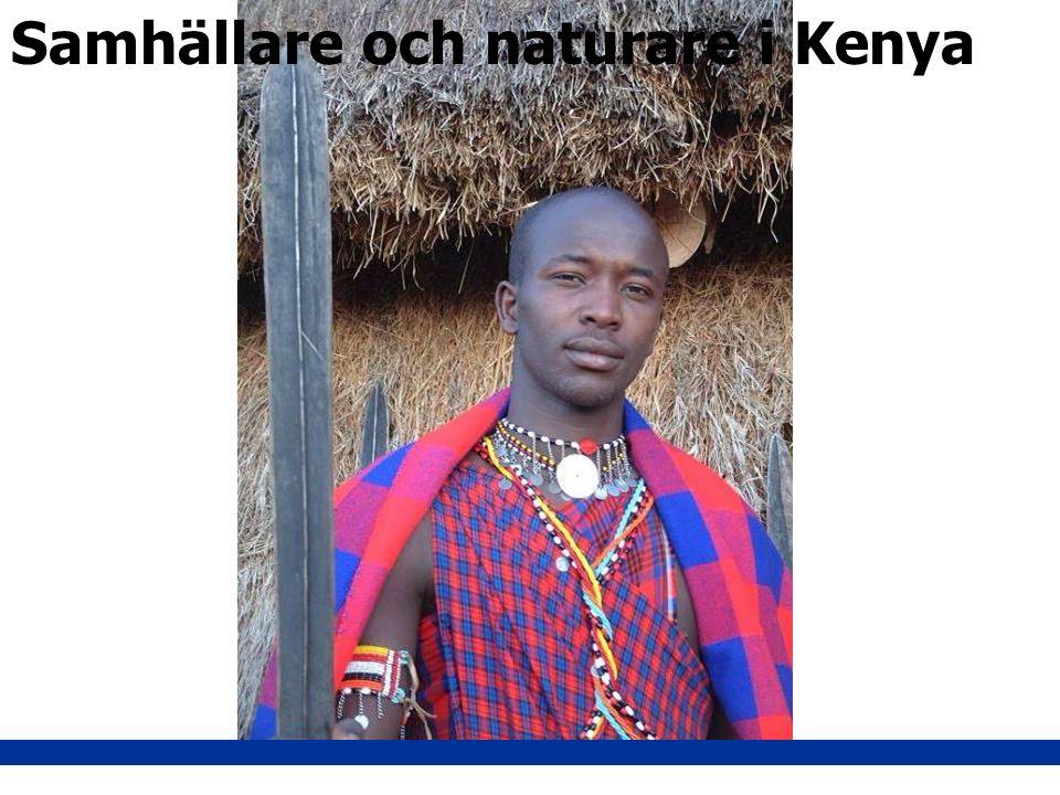 Samhällare och naturare i Kenya