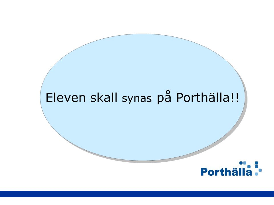 Eleven skall synas på Porthälla!!