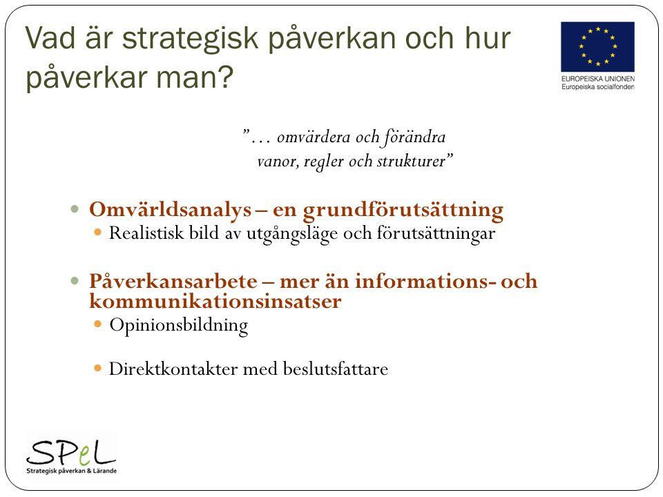 Vad är strategisk påverkan och hur påverkar man.