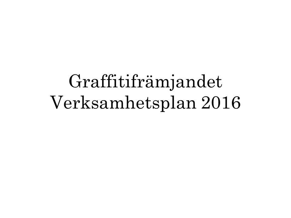Graffitifrämjandet Verksamhetsplan 2016