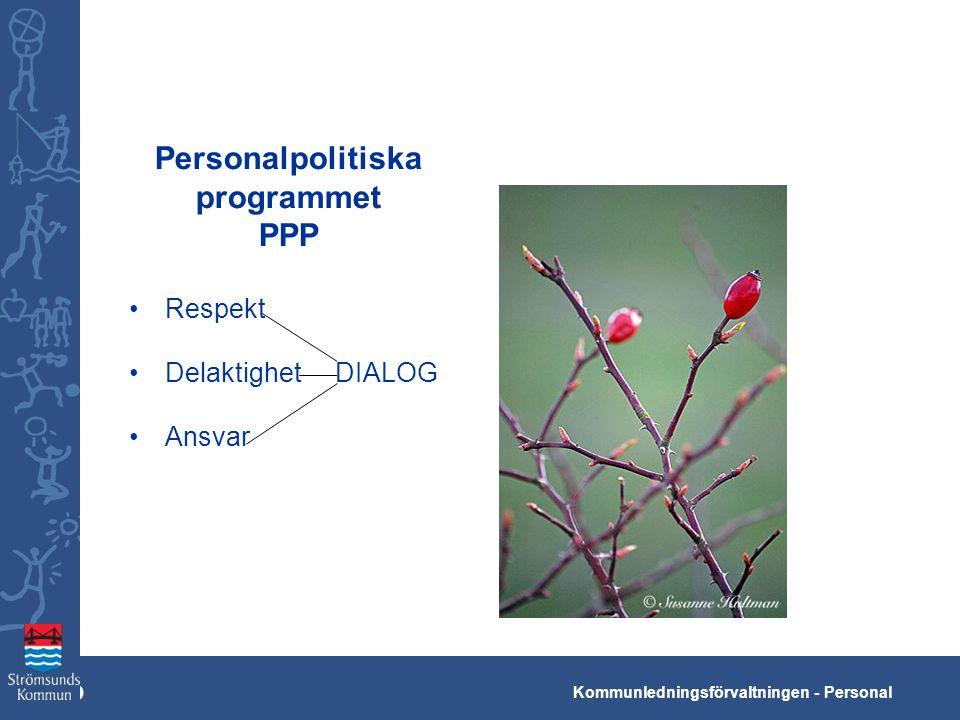 Kko Kommunledningsförvaltningen - Personal Personalpolitiska programmet PPP Respekt Delaktighet DIALOG Ansvar