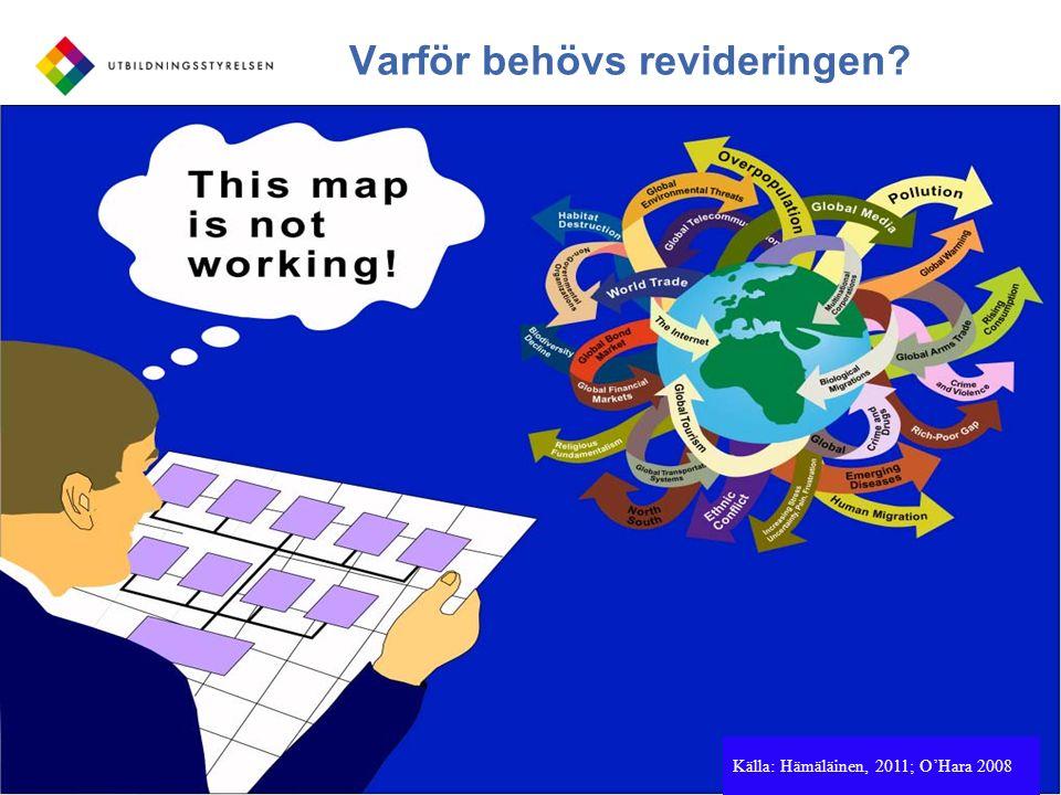 För kunskap och bildning Varför behövs revideringen? 7 Källa: Hämäläinen, 2011; O'Hara 2008