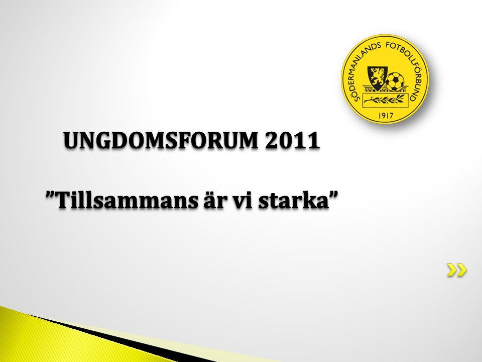 09.00Morgonkaffe/te med smörgås 09.30Mötets öppnande Upprop och fastställande av röstlängd Val av rösträknare, 2st 09.45Utvärdering av beslut tagna på 2010 års Ungdomsforum 10.15Information från UK 11.30Information från Södermanlands FF 12.00Lunch 13.30Inför Beslutstimmen 13.45Beslutstimmen 14.00Henrik Lanner-ledarskapet 15.00Utdelning Fair Play priser 15.30Tack för denna gång.