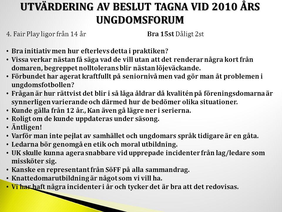 2, Ska Fogis gälla som matchkallelse från och med 12 år.