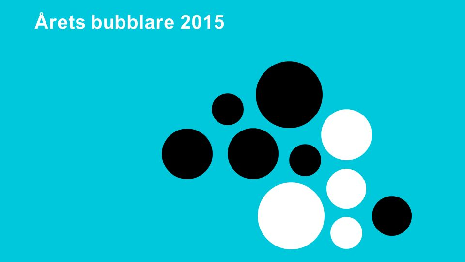 Delaktighetsdagen 2015 Årets bubblare 2015