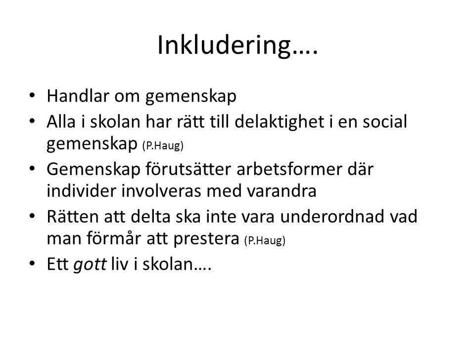 Inkludering….