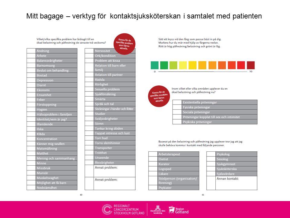 Nationella mål för cancerrehabilitering Alla patienter med cancer samt deras närstående ska få information om cancerrehabilitering.