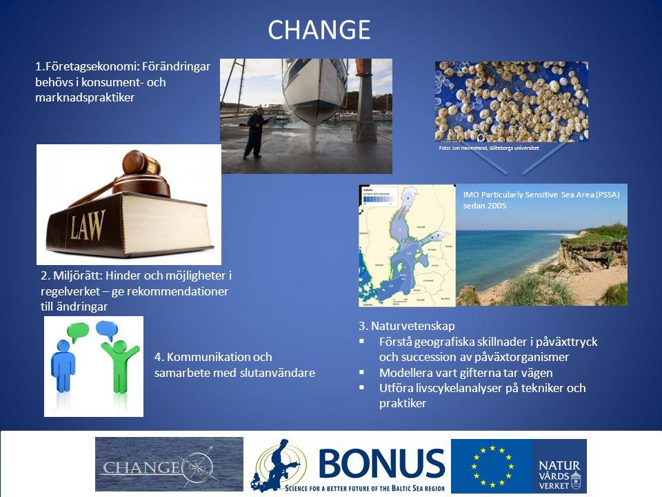 CHANGE 1.Företagsekonomi: Förändringar behövs i konsument- och marknadspraktiker 3. Naturvetenskap  Förstå geografiska skillnader i påväxttryck och s