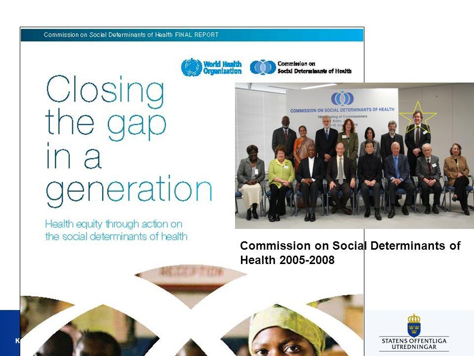 Kommissionen för jämlik hälsa Commission on Social Determinants of Health 2005-2008