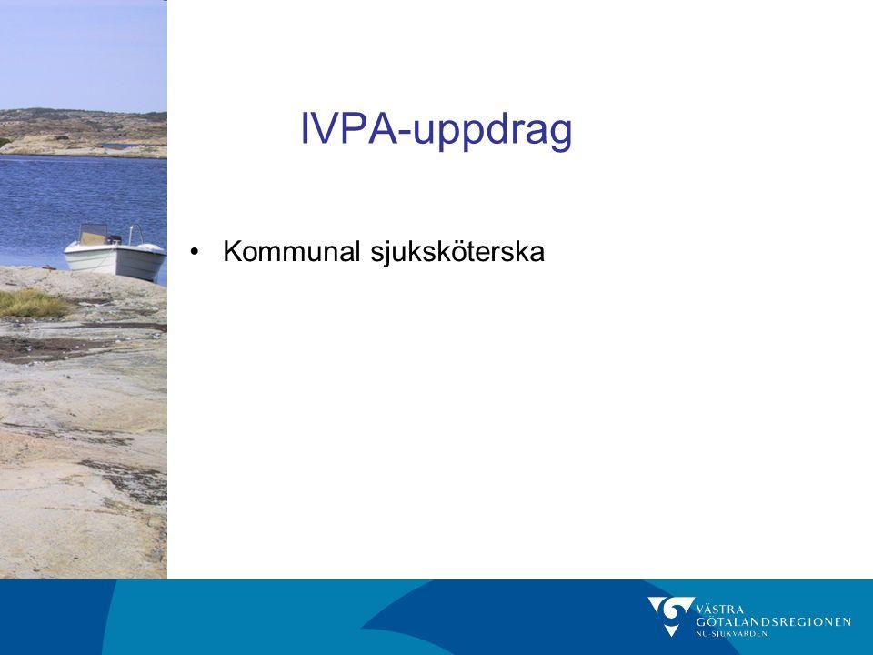 IVPA-uppdrag Kommunal sjuksköterska