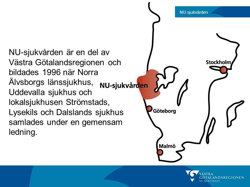 NU-sjukvården är en del av Västra Götalandsregionen och bildades 1996 när Norra Älvsborgs länssjukhus, Uddevalla sjukhus och lokalsjukhusen Strömstads, Lysekils och Dalslands sjukhus samlades under en gemensam ledning.