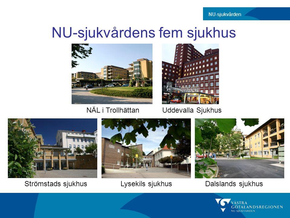 Strömstads sjukhusLysekils sjukhusDalslands sjukhus NÄL i TrollhättanUddevalla Sjukhus N NU-sjukvårdens fem sjukhus NU-sjukvården