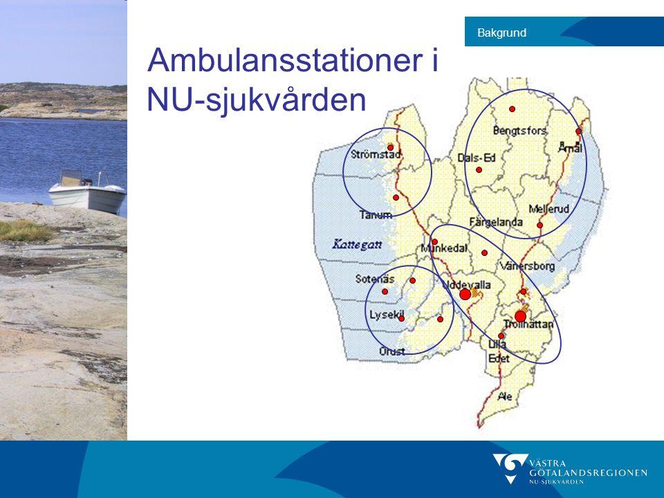 Bakgrund Ambulansstationer i NU-sjukvården
