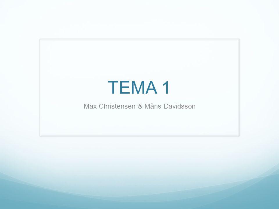 TEMA 1 Max Christensen & Måns Davidsson
