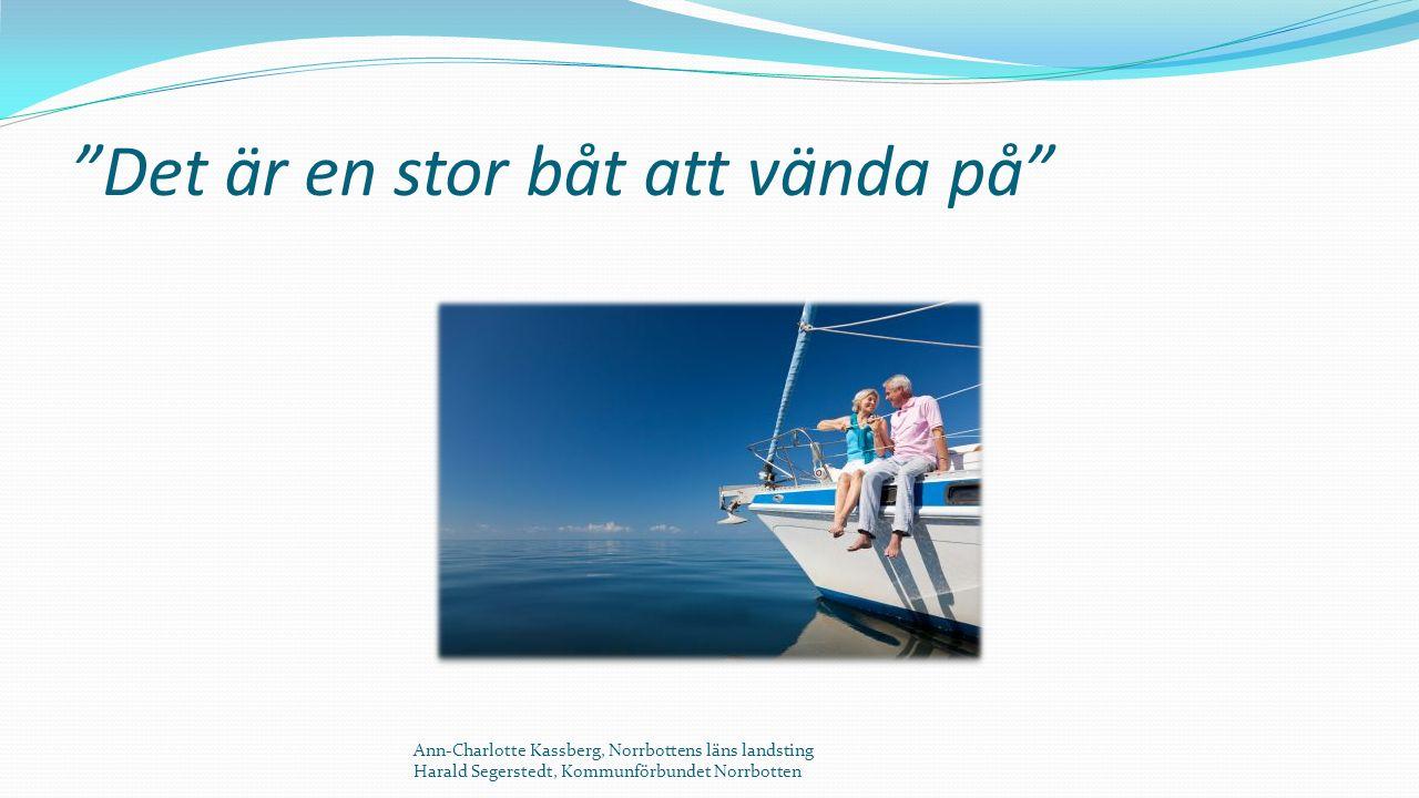 Det är en stor båt att vända på Ann-Charlotte Kassberg, Norrbottens läns landsting Harald Segerstedt, Kommunförbundet Norrbotten