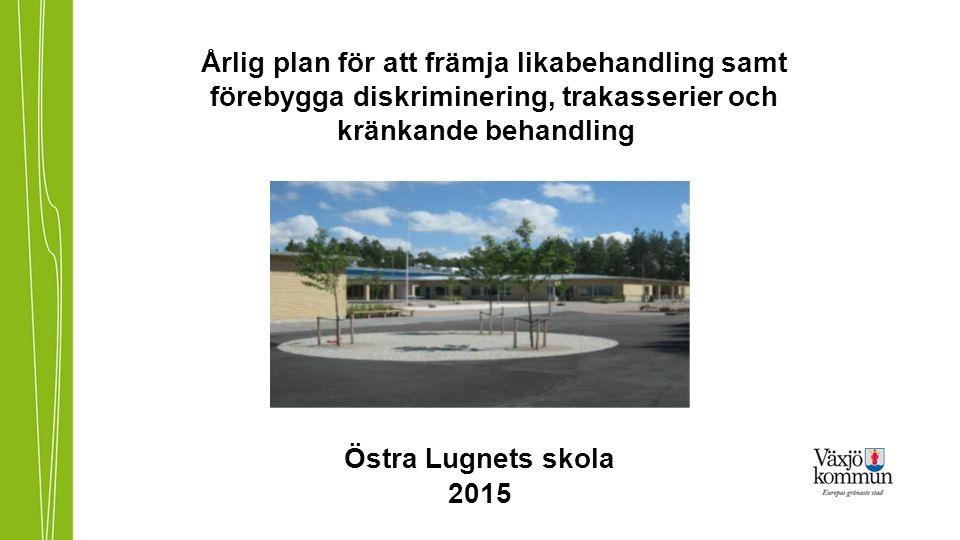 Årlig plan för att främja likabehandling samt förebygga diskriminering, trakasserier och kränkande behandling Östra Lugnets skola 2015