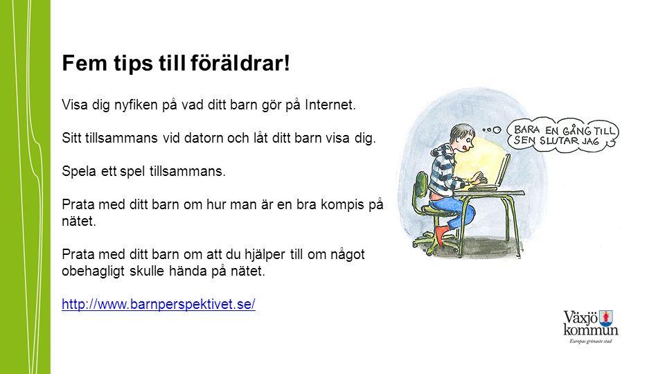 Fem tips till föräldrar. Visa dig nyfiken på vad ditt barn gör på Internet.
