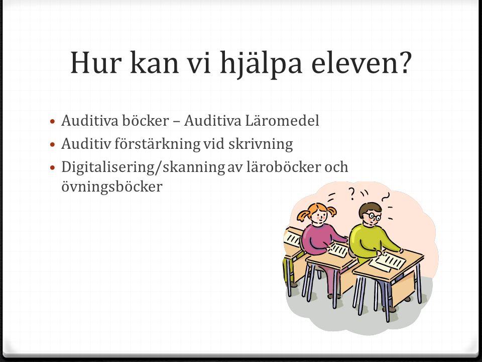 Auditiva böcker – Auditiva Läromedel