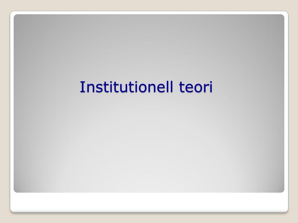 Institutionell teori