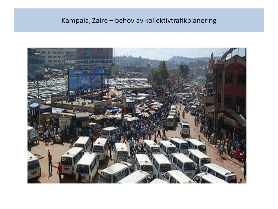 Kampala, Zaire – behov av kollektivtrafikplanering