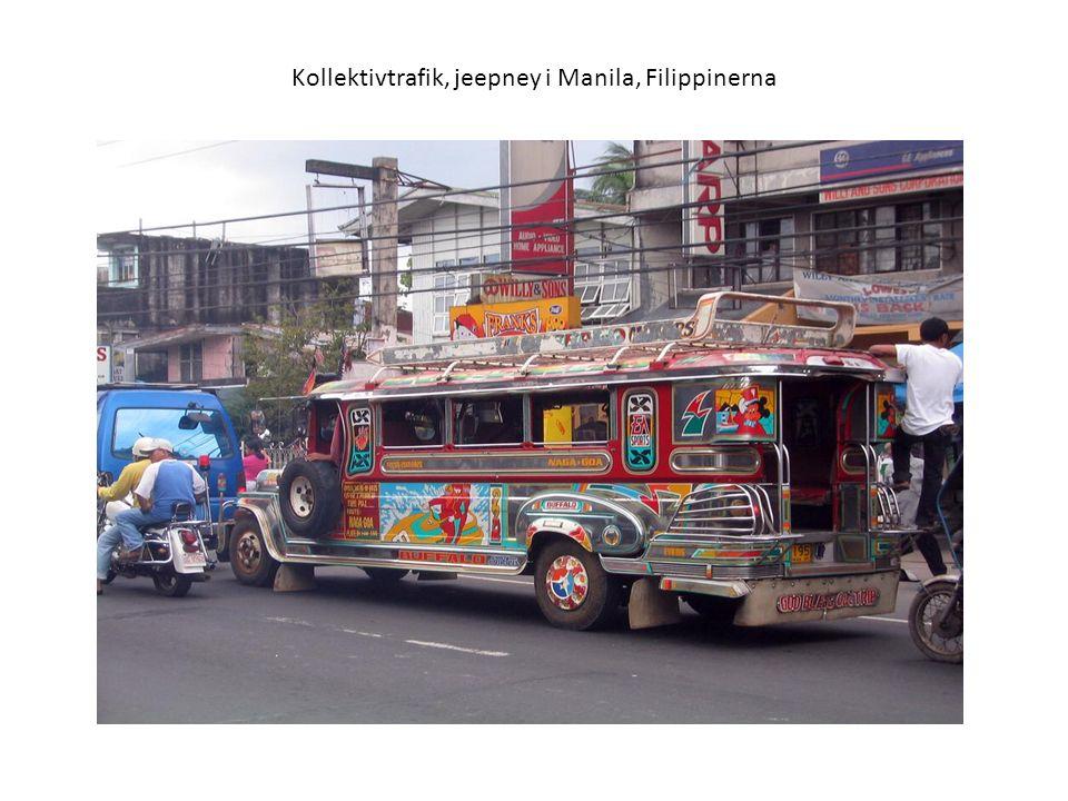 Kollektivtrafik, jeepney i Manila, Filippinerna