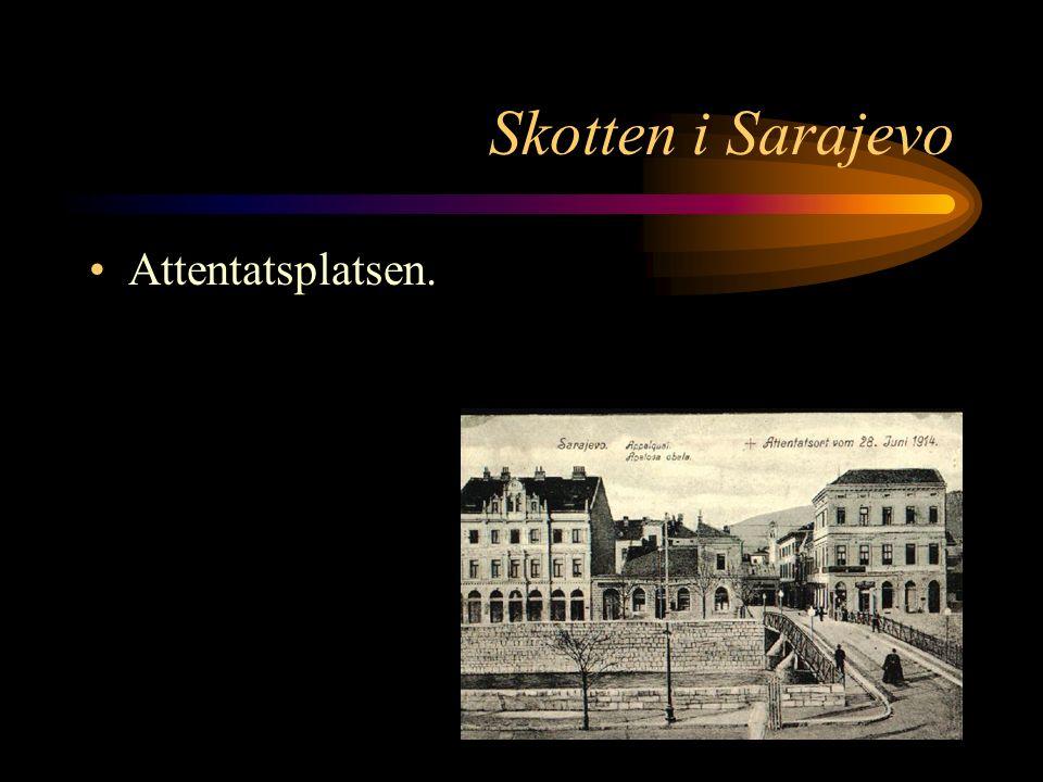 Skotten i Sarajevo Färdvägen ändras för att undvika nya attentatsförsök. Den nya väg bilen ska ta ser ut som ett V, med en skarp sväng över bron vid f