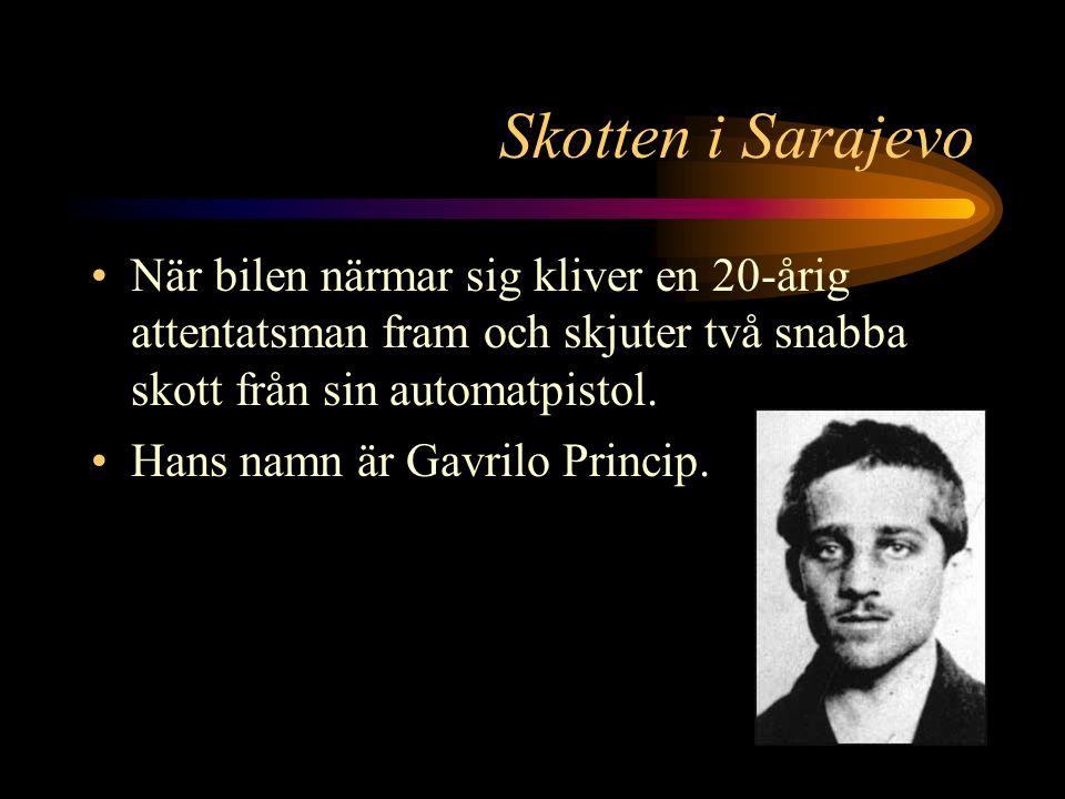 Skotten i Sarajevo Attentatsplatsen.