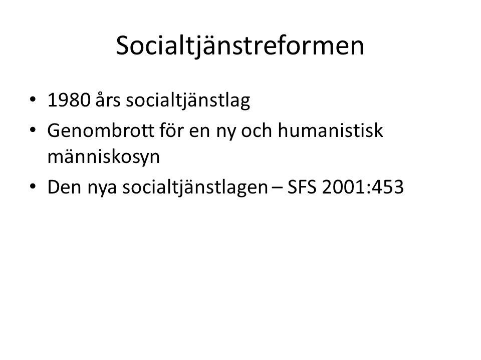 Socialtjänstlagen – målinriktad ramlag Lagen ger kommunerna stor frihet att utforma sin socialtjänst.
