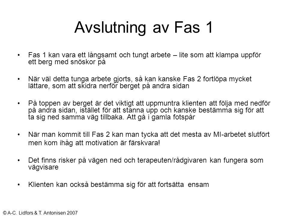 26 grupper © A-C Lidfors & T.Antonisen 2008 MI-nätverket i Norrbotten
