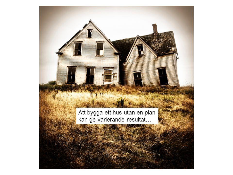Att bygga ett hus utan en plan kan ge varierande resultat…
