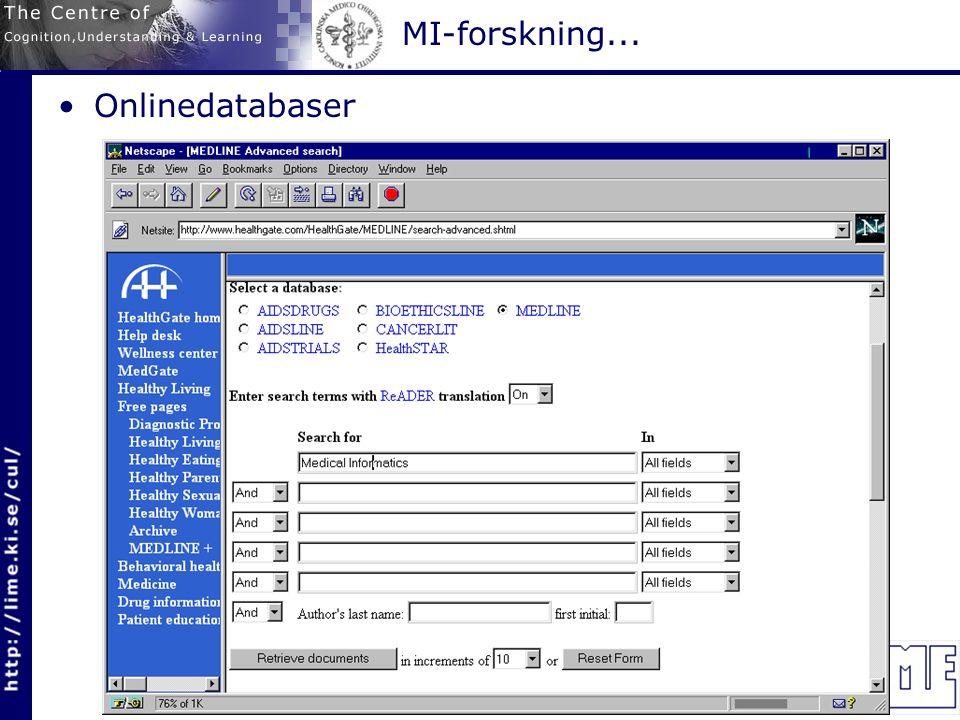 Onlinedatabaser