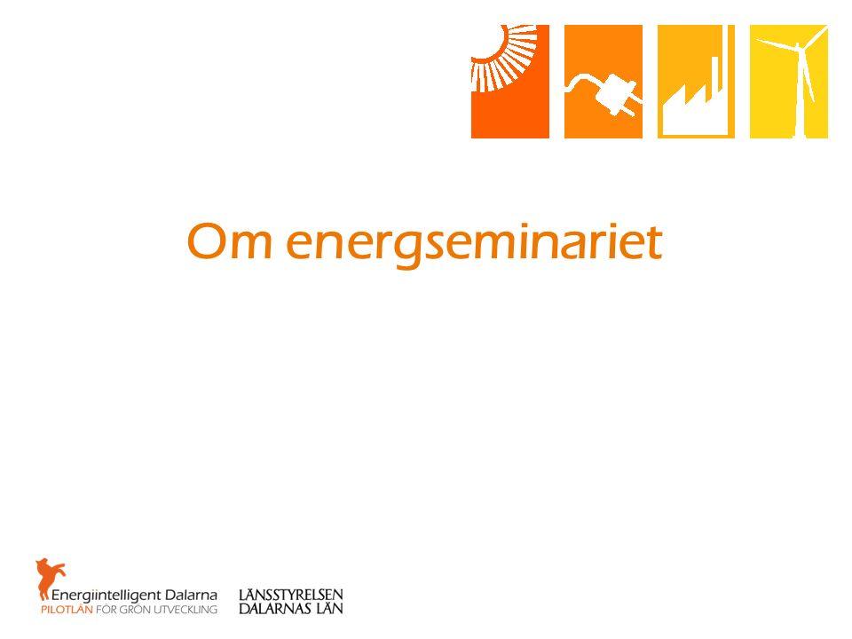Energi- och klimatseminariet 2016 När: 17 maj.