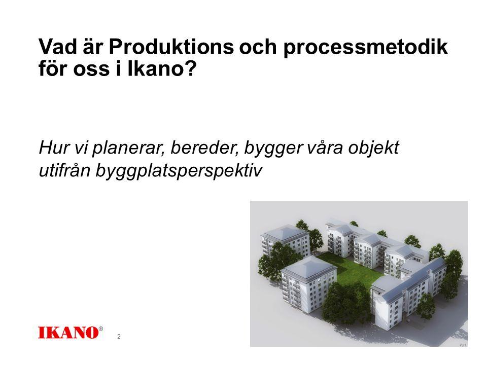 Vad är Produktions och processmetodik för oss i Ikano.