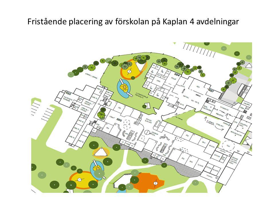 Fristående placering av förskolan på Kaplan 4 avdelningar