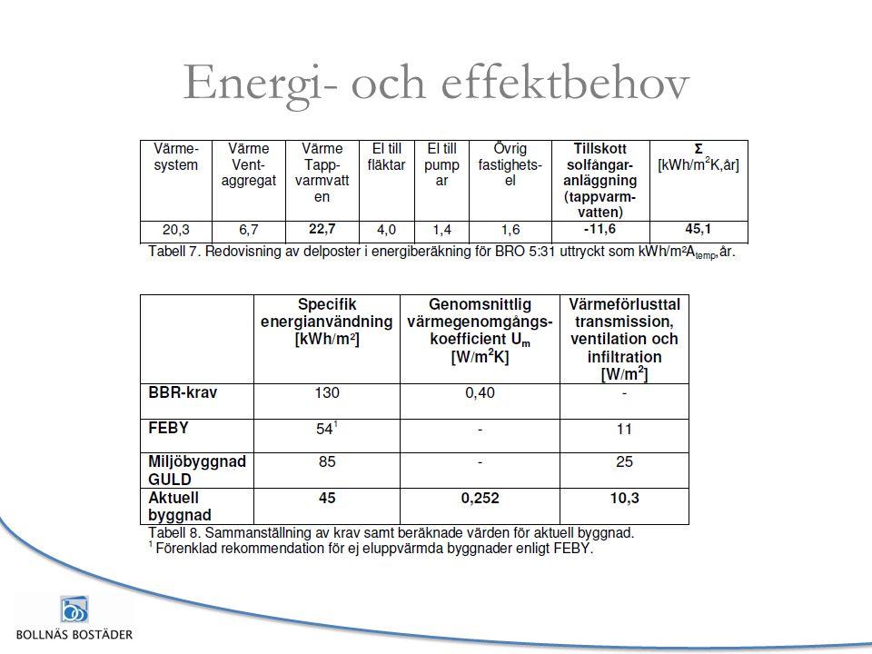 Energi- och effektbehov