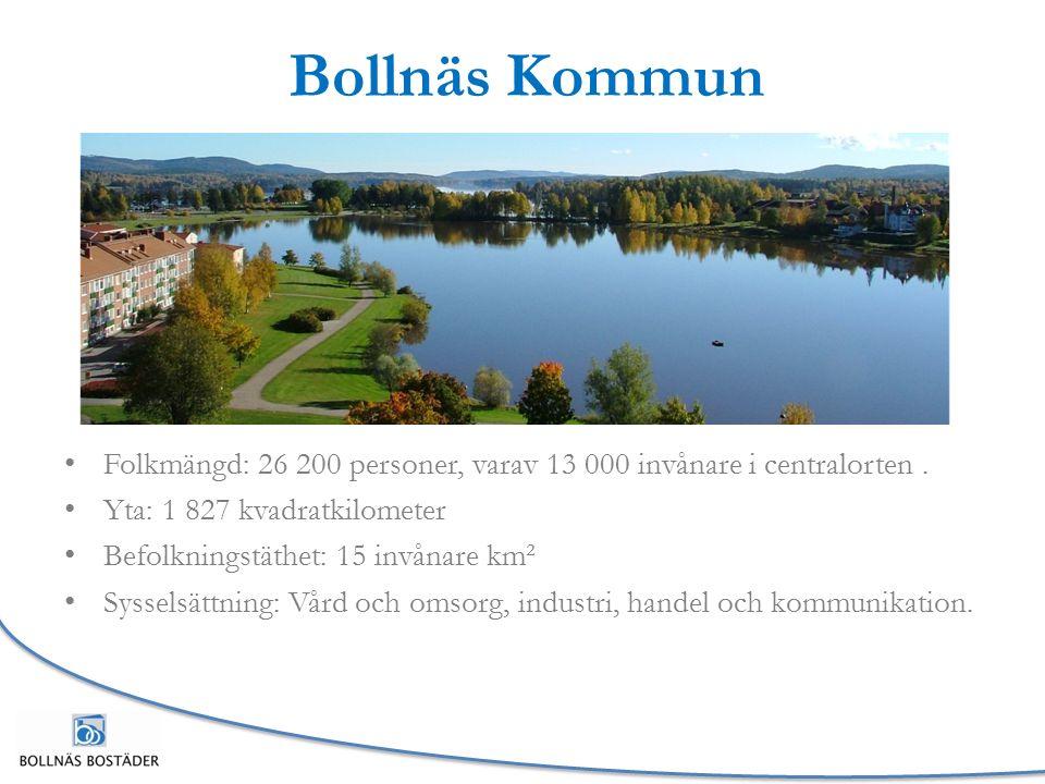 Bollnäs Kommun Folkmängd: 26 200 personer, varav 13 000 invånare i centralorten.