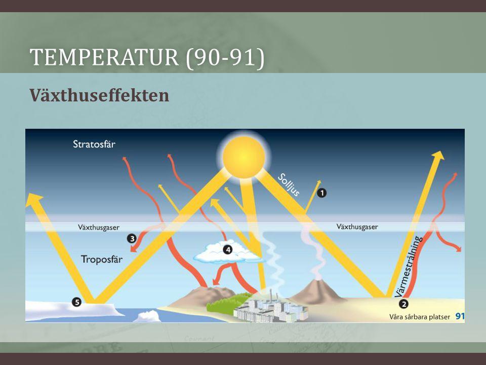 TEMPERATUR (90-91)TEMPERATUR (90-91) Växthuseffekten