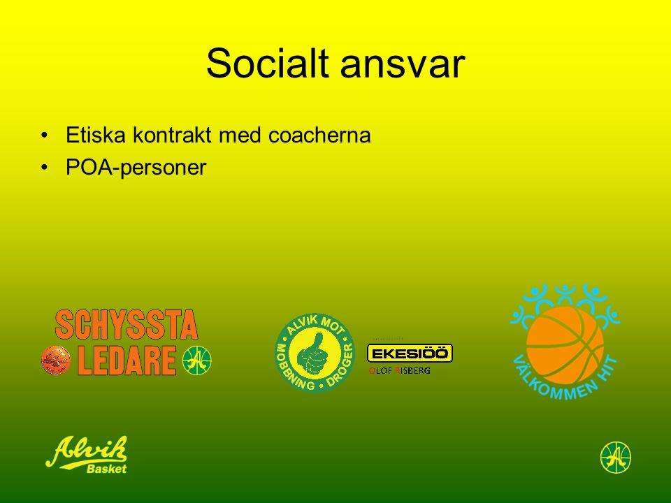 Socialt ansvar Etiska kontrakt med coacherna POA-personer