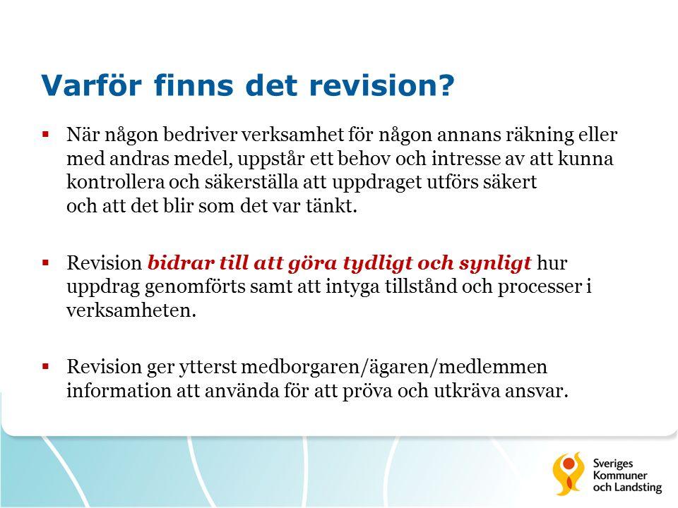 Revisorernas uppdrag Omfattning och revisionsobjekt Kommunallagen 9 kap.
