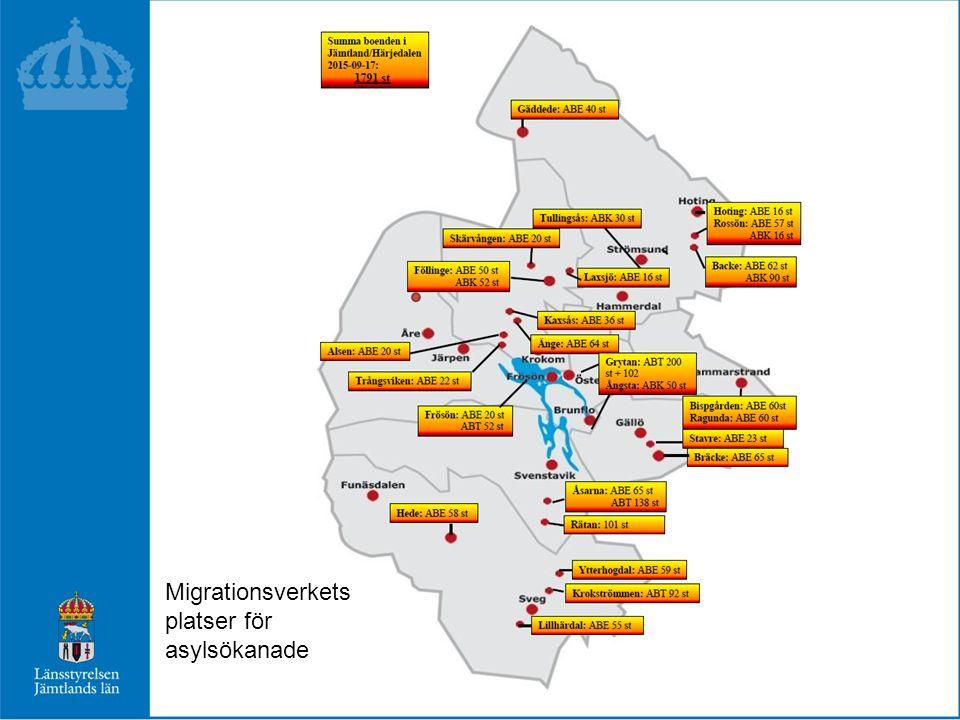 Migrationsverkets platser för asylsökanade