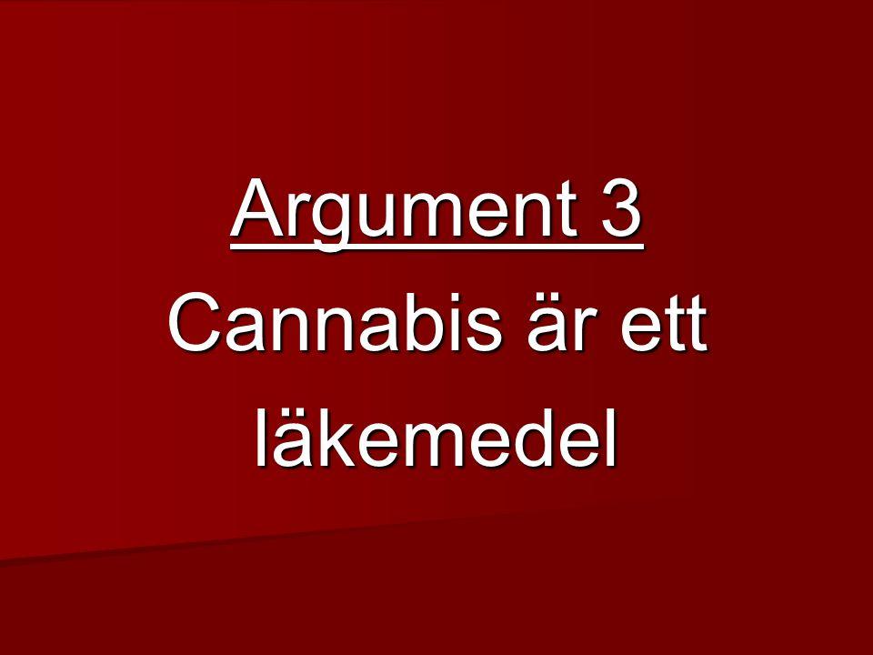 Argument 3 Cannabis är ett läkemedel