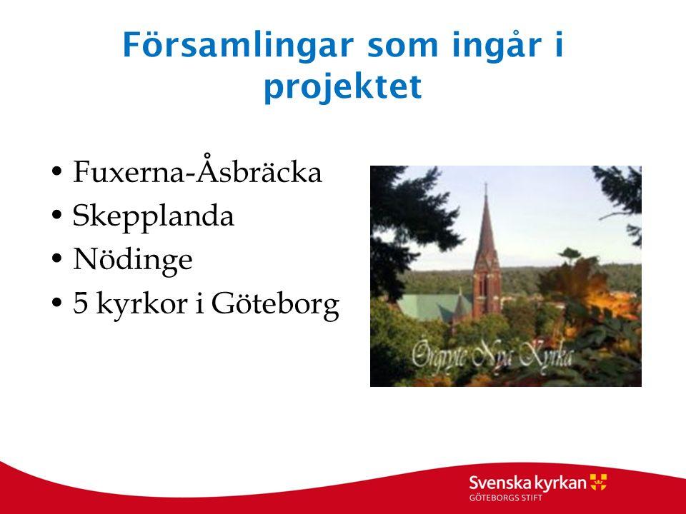 Församlingar som ingår i projektet Fuxerna-Åsbräcka Skepplanda Nödinge 5 kyrkor i Göteborg