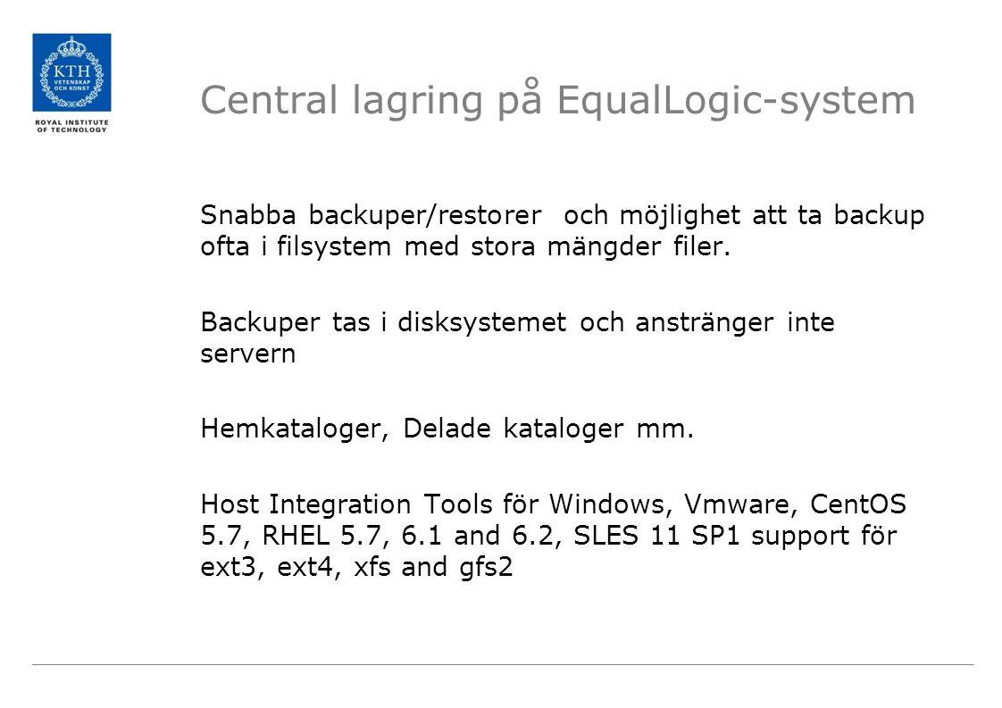 Snabba backuper/restorer och möjlighet att ta backup ofta i filsystem med stora mängder filer.