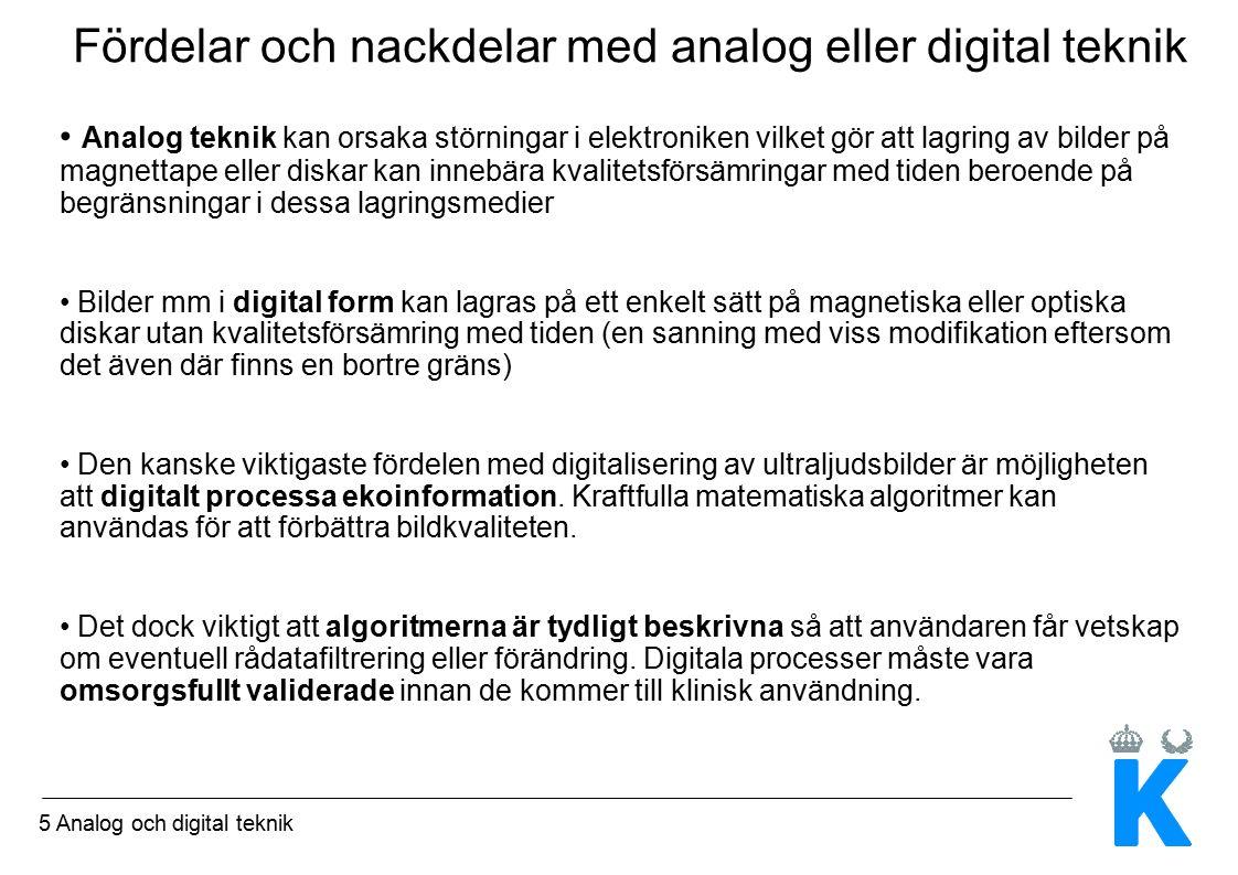 26 Analog och digital teknik Ur Kremkau