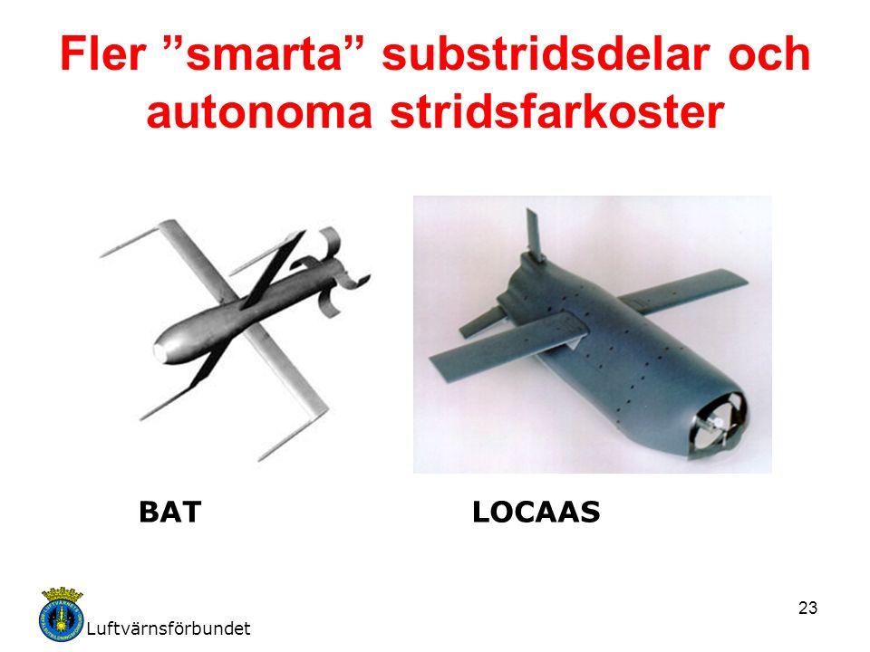 Luftvärnsförbundet 23 Fler smarta substridsdelar och autonoma stridsfarkoster BATLOCAAS