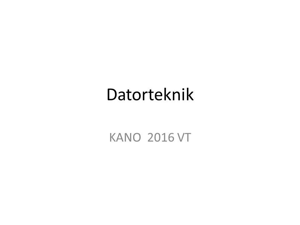 Datorteknik KANO 2016 VT