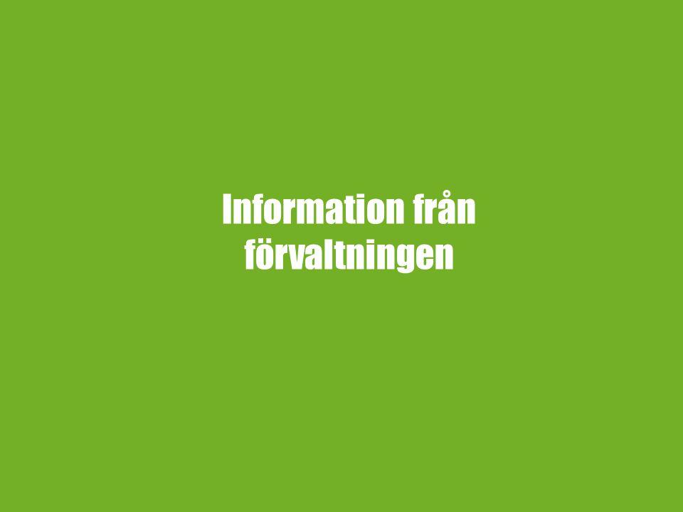 Information från förvaltningen