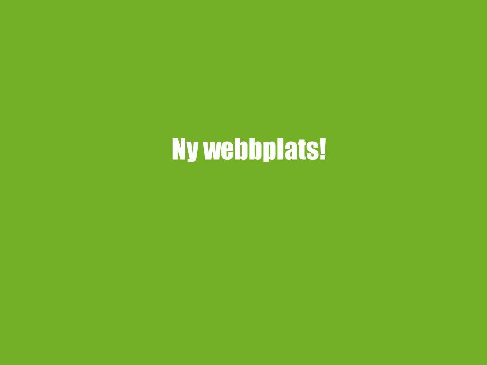 Ny webbplats!