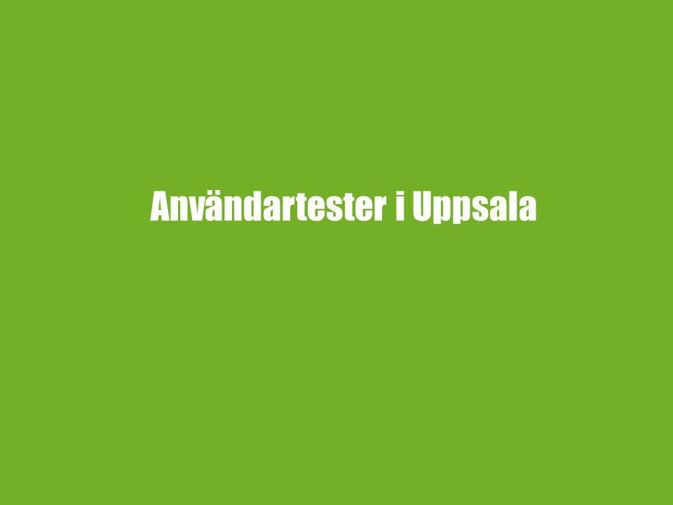 Användartester i Uppsala